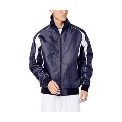 [エスエスケイ] ジャケット グラウンドコート フロントフルZIP(中綿) メンズ ネイビー×ホワイト (7010) 日本 S (日本サイズS相当)