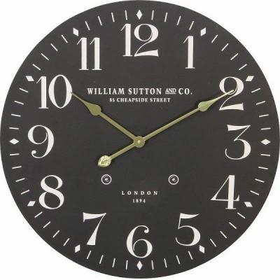 【入荷未定】72718 ウォールクロック LONDON 1894 Φ60cm ブラック【送料無料(北海道・沖縄・離島は除く)】【メーカー直送】【代引/同包不可】【時計】