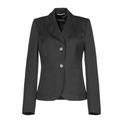 ロシャス ROCHAS テーラードジャケット ブラック 40 バージンウール 100% テーラードジャケット