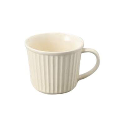 マグカップ 洋食器 / 粉引 レリーフマグ 大 寸法:12 x 10 x 8cm 350cc