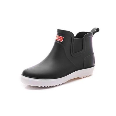 [TIOSEBON] レインシューズ メンズシューズ レインブーツ 雨靴 ショートブーツ 防水 滑り止め PVC 軽量 無地 歩きやすい 梅雨対策 雪