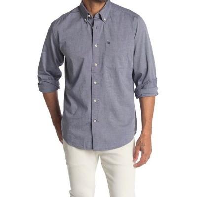 トミー ヒルフィガー メンズ シャツ トップス Brushed Long Sleeve Button Down Shirt NAVY BLAZER