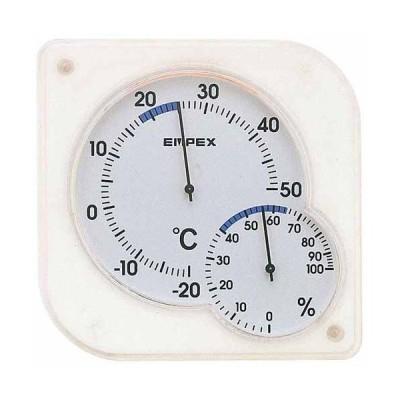 エンペックス EMPEX 温湿度計 シュクレmidi クリアホワイト TM-5601