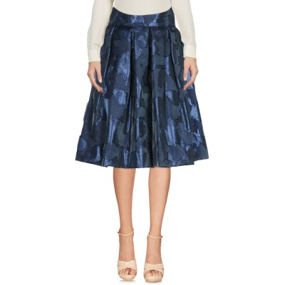 IO COUTURE ひざ丈スカート ブルー 42 シルク 75% / Lurex® 25% ひざ丈スカート