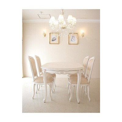 輸入 オーダー家具 プリンセス家具 ダイニングテーブル サイズオーダー 160cm×100cm マダム・ココ色