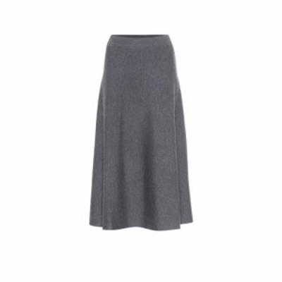 ジャルダンデオランゲール Jardin des Orangers レディース ひざ丈スカート スカート Wool midi skirt