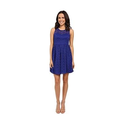 Jessica Simpson レディース フローラル レース フィット-and-Flare ドレス, ブルー/Violet, 14(海外取寄せ品)