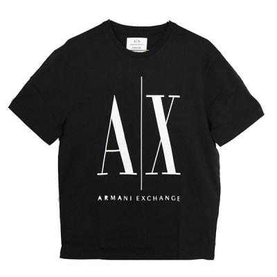 アルマーニエクスチェンジ ARMANI EXCHANGE Tシャツ メンズ レディース 8NZTPA ZJH4Z 1200 Lサイズ ブラック