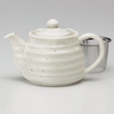業務用食器 粉引ポット(茶コシ付) 17.6×11.2×10.8�(450�)