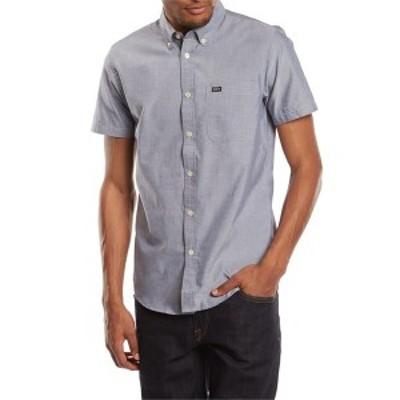 ルーカ メンズ シャツ トップス RVCA That'll Do Oxford S/S Button Down Shirt Distant Blue