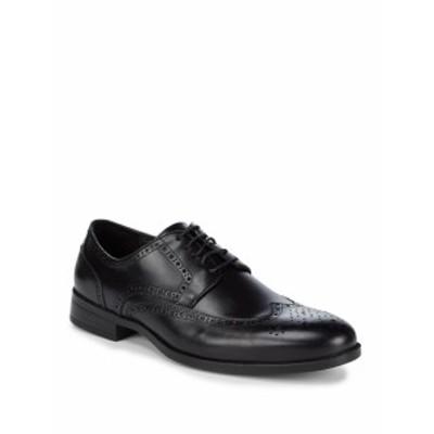 サックスフィフスアベニュー メンズ シューズ オックスフォード 革靴 Leather Blucher Perforated Dress