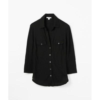 TOMORROWLAND/トゥモローランド サイドパネルシャツ WUA3042 ブラック 1(M)