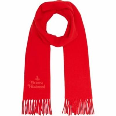 ヴィヴィアンウエストウッド Vivienne Westwood Accessories メンズ マフラー・スカーフ・ストール Embroidered Logo Scarf Red