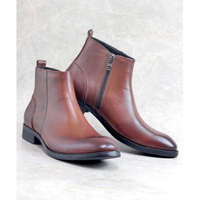 ZealMarket/SFW / [本革使用]履いた時のシルエットがきれいなサイドジップドレスブーツ MEN シューズ > ブーツ