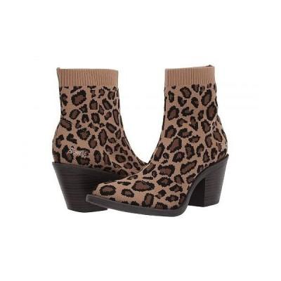 Blowfish ブローフィッシュ レディース 女性用 シューズ 靴 ブーツ アンクルブーツ ショート Luckey - Leopard Knitty Kitty