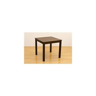 ds-1424632 フリーテーブル(ダイニングテーブル/リビングテーブル) 正方形 幅75cm×奥行75cm 木製 ダークブラウン