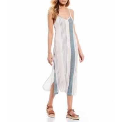 ロキシー レディース ワンピース トップス Avila Stripe Midi Dress North Atlantic true Stripes