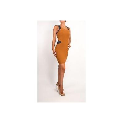 ドレス ボウリー  Boulee Brown Blue Sexy Stretch Dress