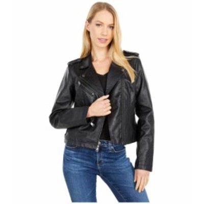 リーバイス レディース コート アウター Classic Asymmetrical Faux Leather Motorcycle Jacket Black 2