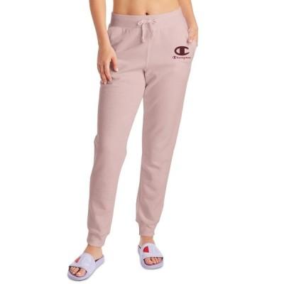 チャンピオン カジュアルパンツ ボトムス レディース Women's Powerblend Appliqué Joggers Hush Pink