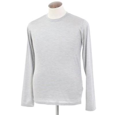 フェデーリ FEDELI シルク 長袖Tシャツ メランジグレー 50