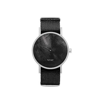 特別価格South Lane ステンレススチール スイス製クオーツ腕時計 レザーカーフスキンストラップ ブラック 20 (モデル:AW18-2-113)好評販売中