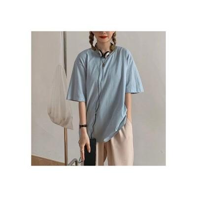 エピック デイ epic day Tシャツ トップス シンプル (サックスブルー)