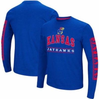 Colosseum コロセウム スポーツ用品  Colosseum Kansas Jayhawks Royal Big & Tall Sky Box Long Sleeve T-Shirt