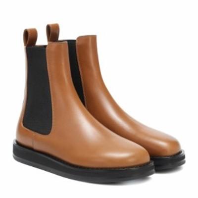 ザ ロウ The Row レディース ブーツ ショートブーツ シューズ・靴 Gaia leather ankle boots Caramel