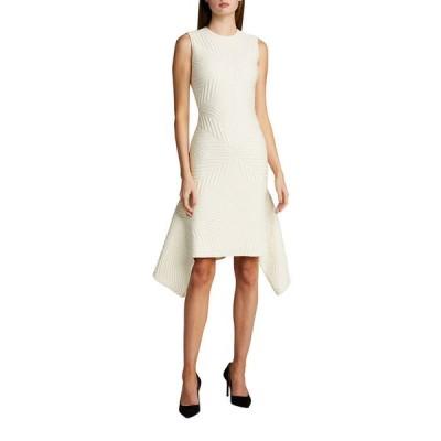 アレキサンダー・マックイーン レディース ワンピース トップス Textured Asymmetric Wool-Blend Dress