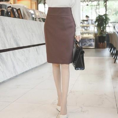 6color ハイウエスト スカート レディース 無地 ペンシル スカート 膝丈スカート スリット入り 着痩せ 女性用 大きいサイズS-3XL フォーマル 通勤OL ビジネス