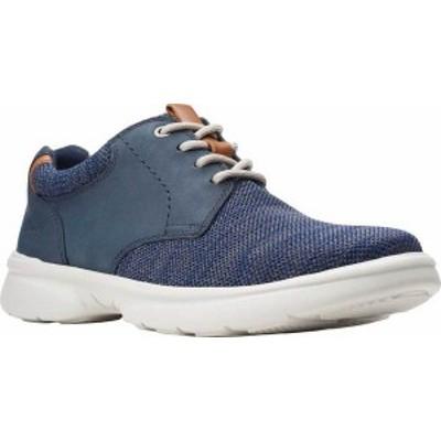クラークス メンズ スニーカー シューズ Men's Clarks Bradley Lane Sneaker Navy Knit