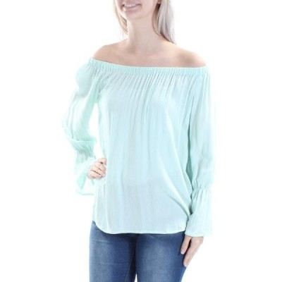 レディース 衣類 トップス SANCTUARY Womens Green Bell Sleeve Off Shoulder Top Size: S ブラウス&シャツ