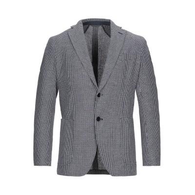 TOMBOLINI テーラードジャケット ダークブルー 56 コットン 70% / ポリエステル 18% / リネン 12% テーラードジャケット