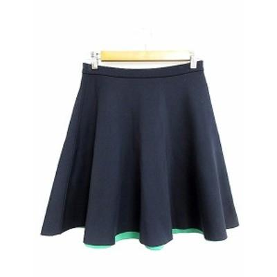 【中古】アーバンリサーチ URBAN RESEARCH スカート フレア ミニ 紺 ネイビー /AAM52 レディース