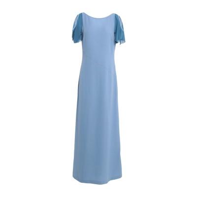 メルシー ..,MERCI ロングワンピース&ドレス スカイブルー 40 ポリエステル 85% / レーヨン 10% / ポリウレタン 5% ロング