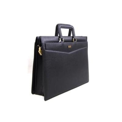 豊岡市製国産 合皮ブリーフバッグ ブラック ビジネスバッグ5619-01
