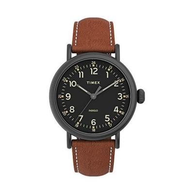 腕時計 タイメックス メンズ TW2U58600VQ Timex Men's Standard 40mm Quartz Leather Strap, Brown, 20 C