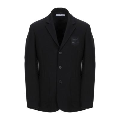 ビッケンバーグ BIKKEMBERGS テーラードジャケット ブラック 48 レーヨン 66% / ナイロン 29% / ポリウレタン 5% テーラ