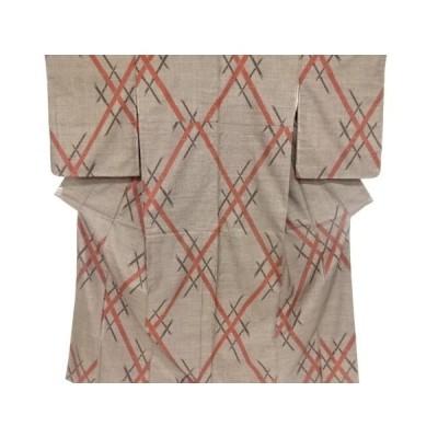 宗sou 竹模様織り出し本場泥大島紬着物(5マルキ)【リサイクル】【着】