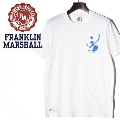 フランクリン&マーシャル FRANKLIN & MARSHALL 半袖Tシャツ メンズ バックプリント ラウンドネック サーフ系 TSHIRT JERSEY ROUND NECK SHORT