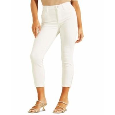 ゲス レディース デニムパンツ ボトムス 1981 Cropped Skinny Jeans Pure White