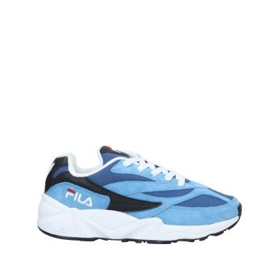 FILA スニーカー&テニスシューズ(ローカット) アジュールブルー 40 紡績繊維 / 革 スニーカー&テニスシューズ(ローカット)