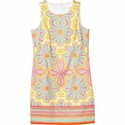 ロンドンタイムス London Times レディース ワンピース シフトドレス ワンピース・ドレス Cotton Sateen Shift Dress Soft White/Apricot