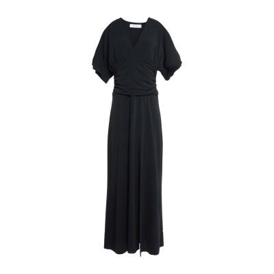 カオス KAOS ロングワンピース&ドレス ブラック XS アセテート 75% / ナイロン 18% / ポリウレタン 7% ロングワンピース&ドレス