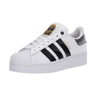 adidas Originals Women's Superstar Bold Shoes Sneaker, White/Black/Gold Metallic, 9【並行輸入品】