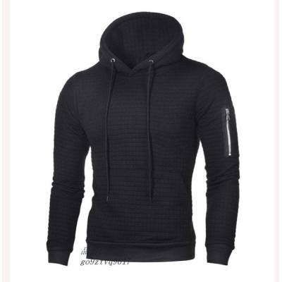 2019 新 メンズ グループ上 ジャガー パーカー 長袖 ファスナーポケットパーカー フード付き 暖かい メンズ服 か 男性 2019 プルオーバー ジャケット