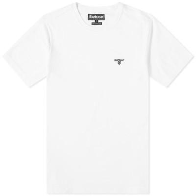 バブアー Barbour メンズ Tシャツ トップス Sports Tee White