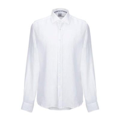 SPINNAKER リネンシャツ ファッション  メンズファッション  トップス  シャツ、カジュアルシャツ  長袖 ホワイト