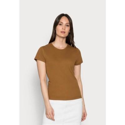 マルコポーロ レディース ファッション Basic T-shirt - brown ochre